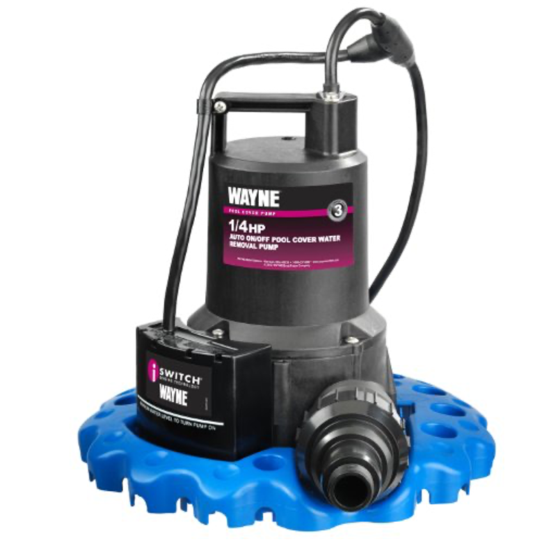 WAYNE Automatic ON/OFF Water Removal Pool Cover Pump – 1/4 HP